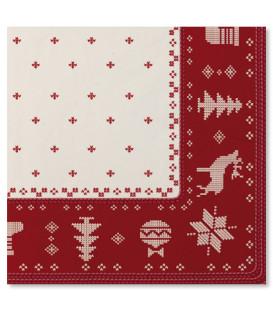Tovaglioli 3 Veli Natale Punto Croce 33x33 cm