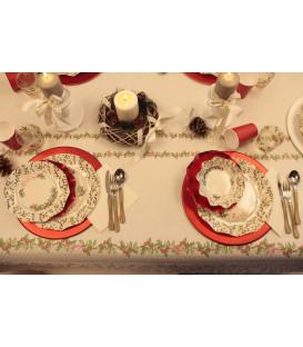 Tovaglia Rettangolare Shabby Christmas 140 x 240 cm