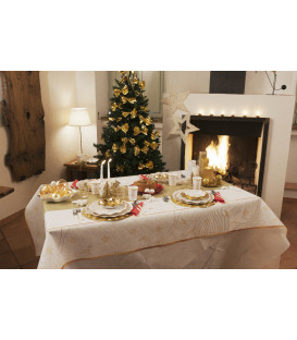 Tovaglia Rettangolare Golden Christmas 140 x 240 cm