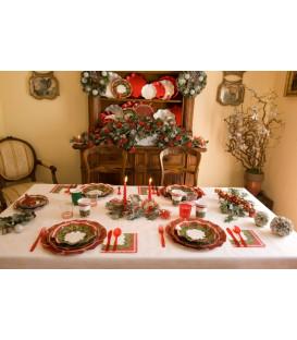 Piatti Piani di Carta a Petalo Natale Ambience 27 cm