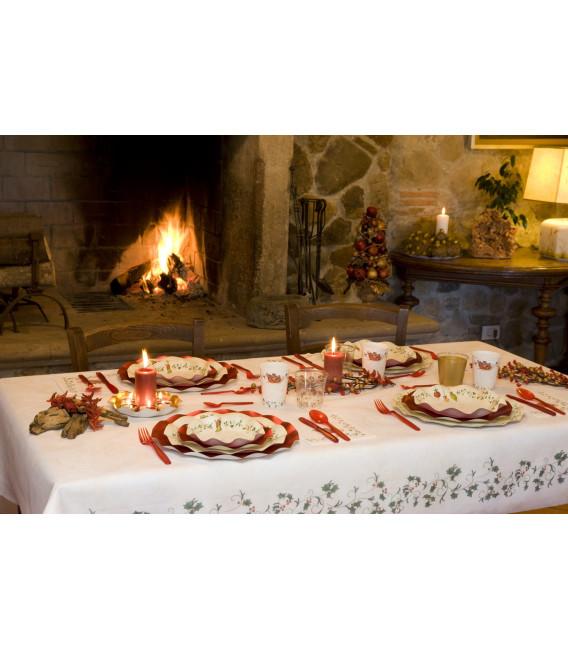 Tovaglia Rettangolare Natale Decoration 140 x 240 cm