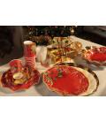 Piatti Piani di Carta a Petalo Natale Poinsettia 21 cm