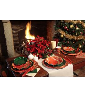 Tovaglioli 3 veli Natale Poinsettia 33x33 cm