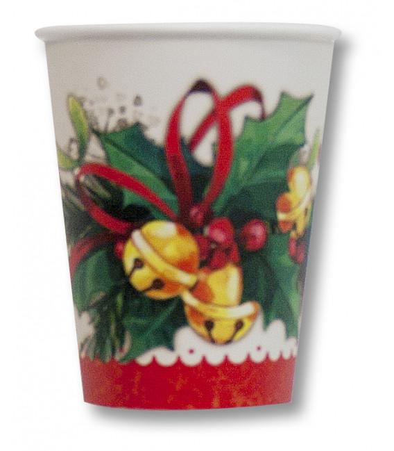 Bicchieri di carta Jingle Bells 250 cc