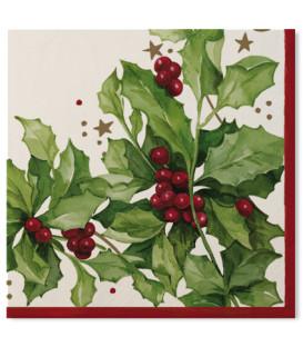 Tovaglioli 3 veli Christmas Style 33x33 cm