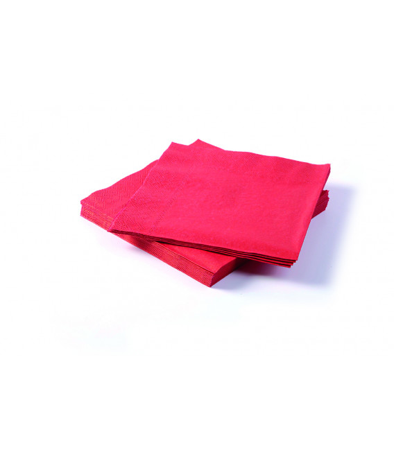 Tovaglioli Rosso 25 x 25 cm 3 confezioni