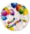 Piatti Piani di Carta a Petalo Buon Compleanno