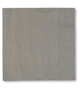 Tovaglioli 3 Veli Argento 3 confezioni 25x25 cm