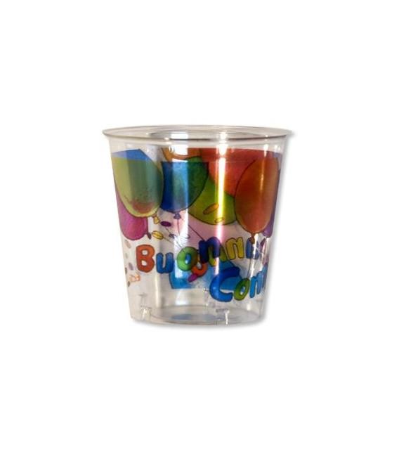 Bicchieri di Plastica Buon Compleanno 300 cc