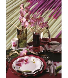 Piatti Fondi di Carta a Petalo Orchidea 24 cm