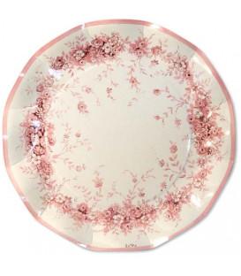 Piatti Piani di Carta a Petalo Rose Garden 21 cm