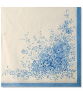 Tovaglioli 3 Veli Rose Garden Blu 33x33 cm