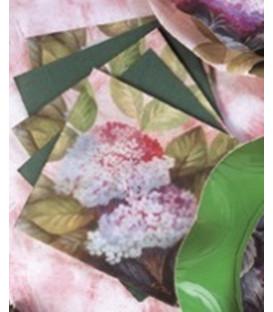 Tovaglioli 3 Veli Ortensia Rosa 33x33 cm