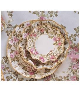 Piatti Piani di Carta a Petalo Eden Rosa 32,4 cm 3 Confezioni