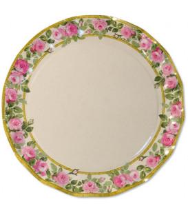 Piatti Piani di Carta a Petalo Eden Rosa 32,4 cm