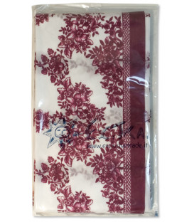 Tovaglia Rettangolare Victoria bordeaux 140 x 240 cm