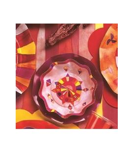 Piatti Fondi di Carta a Petalo Peace 18,5 cm