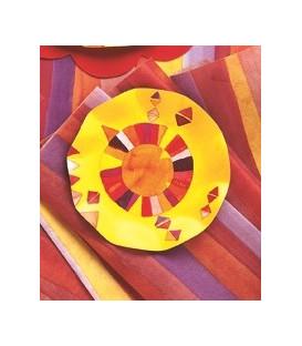 Piatti Piani di Carta a Petalo Peace 21 cm
