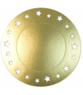 Sottopiatto Piano con stelline Oro Satinato 34 cm 4 Pz
