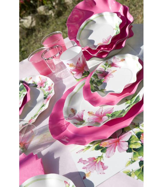 Piatti Fondi di Carta a Petalo Ibiscus 18,5 cm