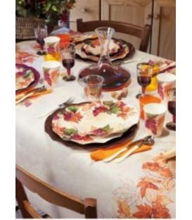 Piatti Piani di Carta a Petalo Autunno Grapes 27 cm 2 Confezioni