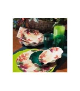 Piatti Fondi di Carta a Petalo Autunno Grapes 18,5 cm 3 Confezioni