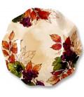 Piatti Fondi di Carta a Petalo Autunno Grapes 18,5 cm