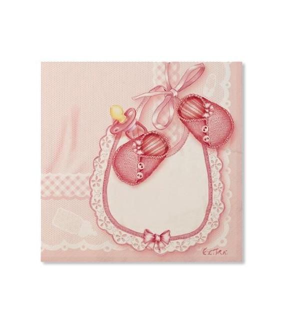 Tovaglioli 3 Veli Eccomi/Baby Rosa 33x33 cm