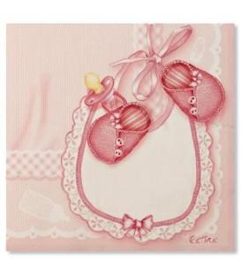 Tovaglioli 3 Veli Baby Rosa