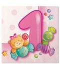 Tovaglioli 3 Veli Primo Compleanno Rosa
