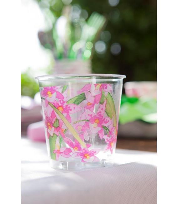 Piatti Fondi di Carta Petalo Orchidea 24 cm