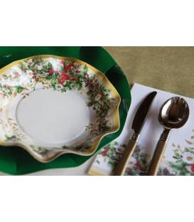 Piatti Fondi di Carta a Petalo Ghirlanda di Natale 18,5 cm