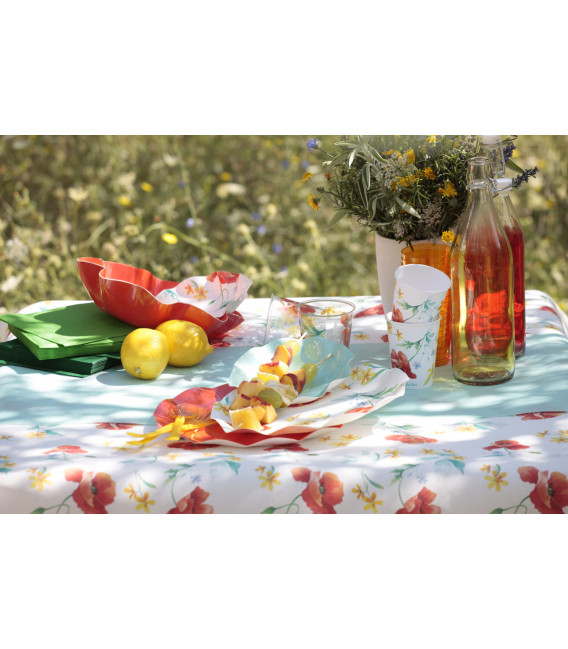 Bicchieri di Plastica 300 cc Papaveri Poppy 3 Confezioni