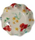 Piatti Fondi di Carta a Petalo Papaveri Poppy 18,5 cm 3 Confezioni