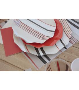 Tovaglioli Fashion Corallo 33 x 33 cm 3 confezioni