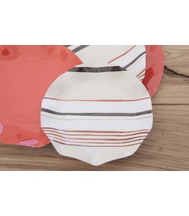 Piatti Piani di Carta Fashion Corallo 27 cm 2 Confezioni