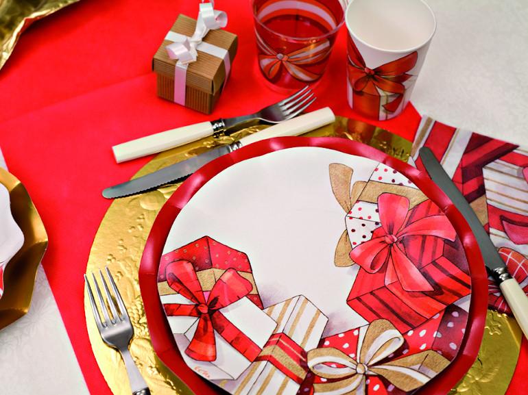 Piatti di carta stile Natalizio Christmas Gift